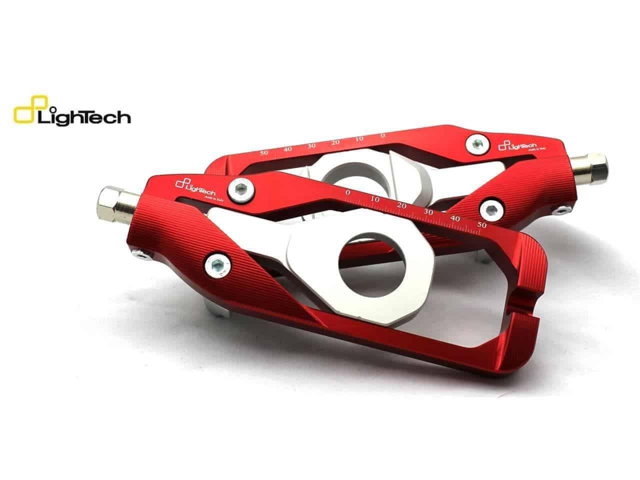 tendeur de chaine Lightech pour Yamaha YZF-R1 YZF-R6 MT-09 MT-10 rouge