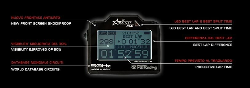 CHRONOMÈTRE PZ-RACING GPS START NEXT + ACQUISITION DE DONNÉES