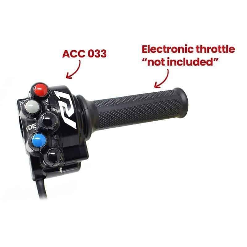 Poignée de gaz avec Commandes Intégrées pour Yamaha YZF-R1 2020 (ACC033)