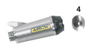Silencieux ARROW WORKS Titane embout Carbone S1000RR 2009>2014