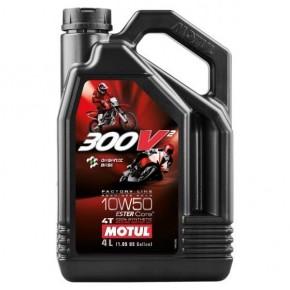 HUILE MOTO MOTUL 300V 10W50 EN BIDON DE 4 L