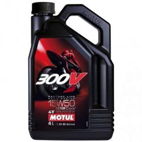 HUILE MOTO MOTUL 300V 15W50 EN BIDON DE 4 L