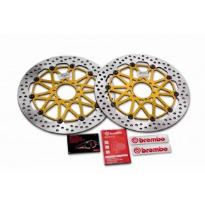 DISQUES BREMBO SUPERSPORT 330MM APRILIA RSV4 RR/RF 2017> (208B85925)