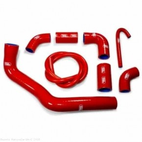 Durites de radiateur SAMCO type origine rouge - 8 durites Ducati Panigale V4