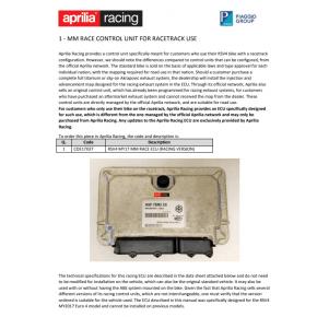 CONVERSION ECU MM RACE APRILIA RSV4 1100 2019-2020
