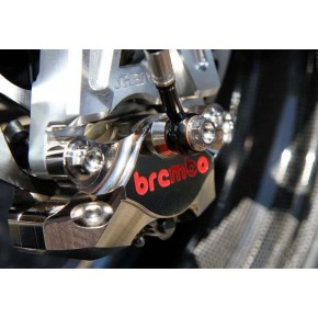 ETRIER ARRIERE BREMBO P2 34 CNC NICKEL ENTRAXE 84MM (120A44140)