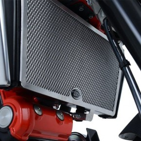 GRILLE DE RADIATEUR NOIR RG POUR APRILIA SHIVER 900 (RAD0240BK)