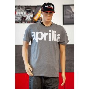 T-SHIRT APRILIA LOGO GRIS