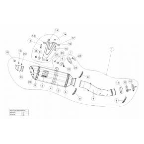 Kit réparation de silencieux carbone Akrapovic RSV4 2015-2020 (P-RKS437R320)