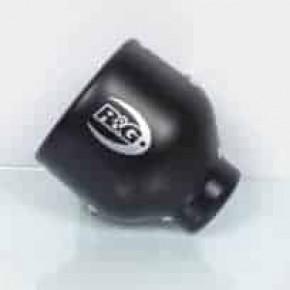 PROTECTION DE SILENCIEUX R&G RACING NOIR OVAL DROIT