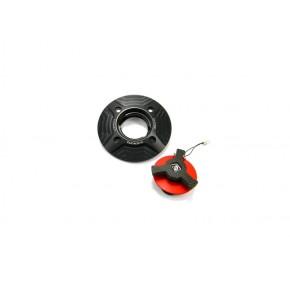 Bouchon noir-rouge avec clef carbone (en option)