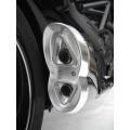 Silencieux Zard Inox Ducati Diavel / Embout Alu